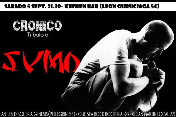 Crónico desplegará este sábado su habitual tributo a Sumo
