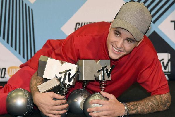 Justin Bieber es el máximo ganador en los MTV EMA 2015