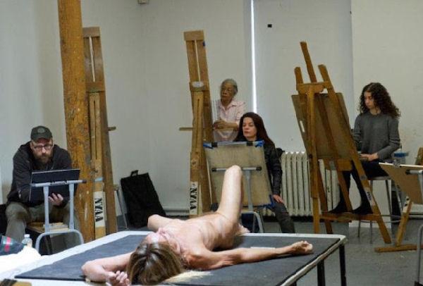 Iggy Pop posó desnudo para una clase de dibujo en la Academia de Arte de Nueva York