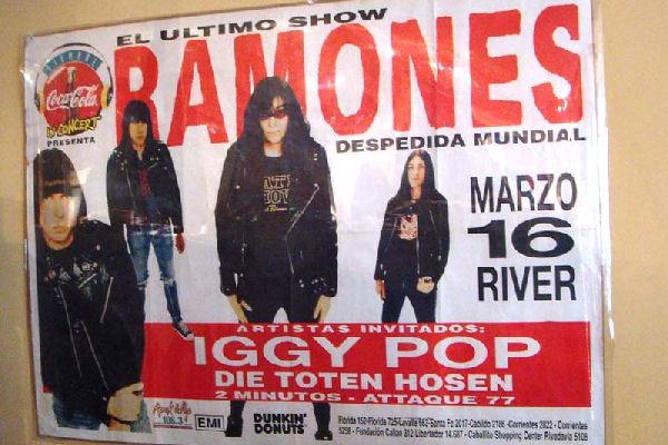 Se cumplen 20 años del último show de los Ramones en Buenos Aires