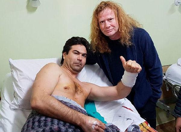 Dave Mustaine visitó al fan apuñalado y lo invitó al Luna Park
