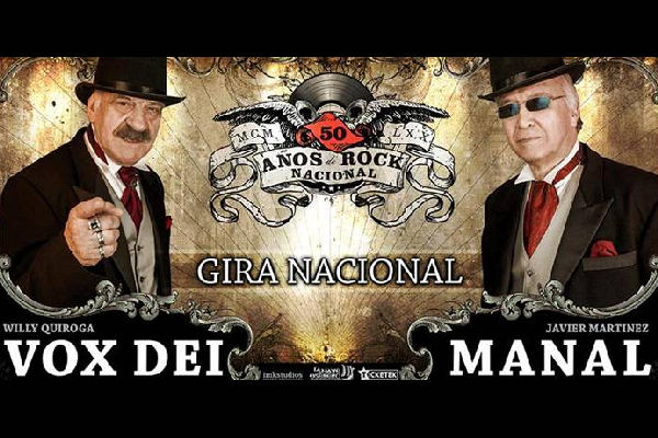 Histórico: Vox Dei y Manal actuarán en San Nicolás para celebrar los 50 años del rock nacional