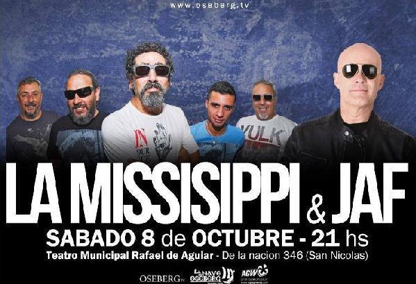 Noche a puro blues: JAF y La Mississippi actuarán juntos en San Nicolás