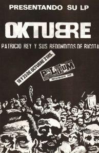 Patricio Rey y sus Redonditos de Ricota-Oktubre-afiche