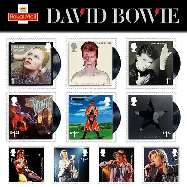 Lanzan en el Reino Unido estampillas en homenaje a David Bowie