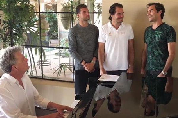 Liderados por Roger Federer, volvieron los Backhand Boys