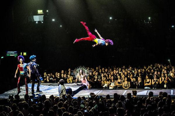 """Se estrenó en el Luna Park el espectáculo """"Sép7imo Día"""", que une al Cirque du Soleil con Soda Stereo"""