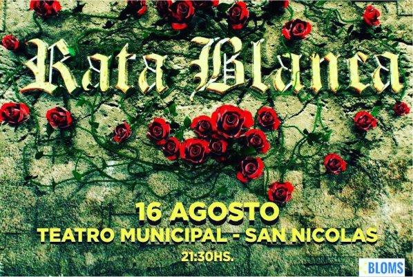 Rata Blanca actuará el 16 de agosto en San Nicolás
