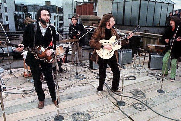 Hace 50 años Los Beatles ofrecieron su icónico concierto en la terraza de Abbey Road