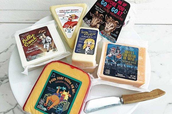 Lanzan una línea de quesos inspirados en clásicos de los 80