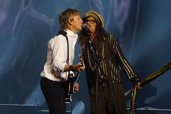 Paul McCartney y Steven Tyler cantaron juntos «Helter Skelter» de los Beatles