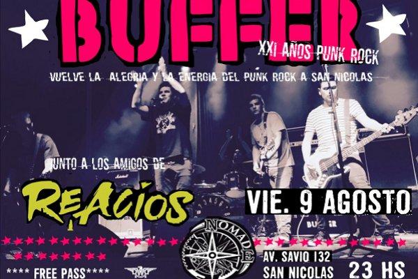 La banda de punk-rock melódico Buffer llega este viernes a San Nicolás