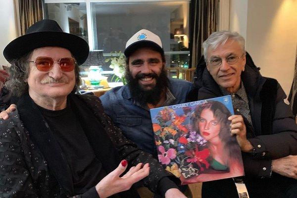 Juan Pablo Sorín recibió en su casa a Caetano Veloso y Charly García