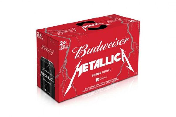Budweiser lanza una cerveza con la marca de Metallica