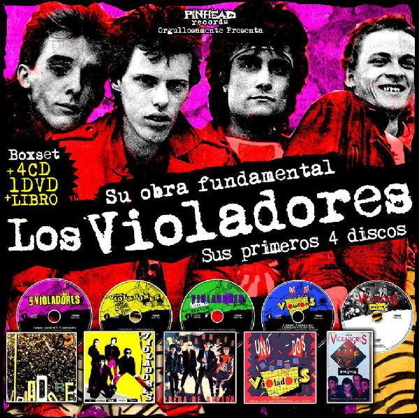 Publican un box set con los cuatro primeros discos de Los Violadores