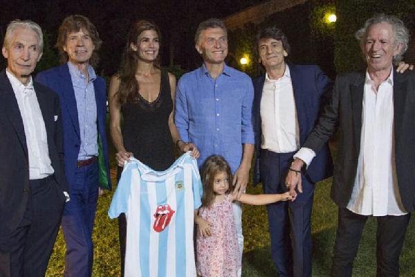 Mauricio Macri recibió a los Rolling Stones en la quinta Los Abrojos