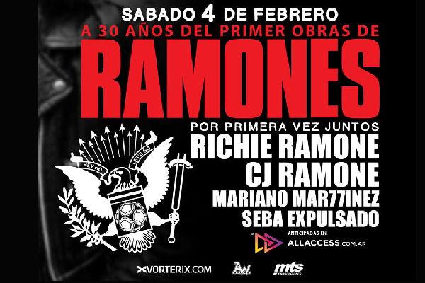 30 años después del debut de Ramones en la Argentina, CJ y Richie compartirán escenario por primera vez
