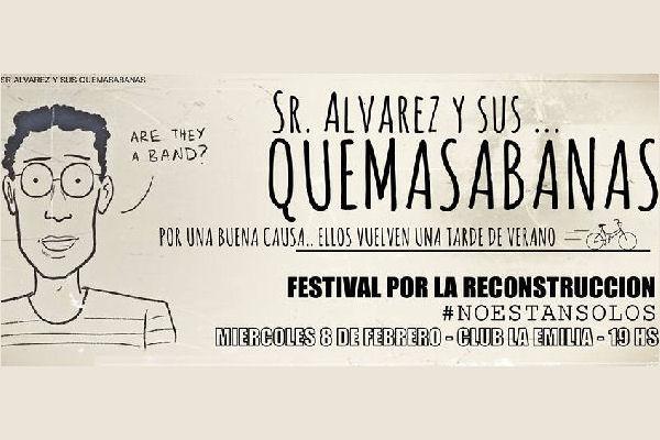 La mítica banda nicoleña Sr. Álvarez y Sus Quemasábanas vuelve con un fin solidario