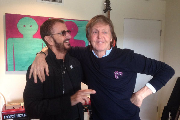 Paul McCartney y Ringo Starr se reunieron en el estudio