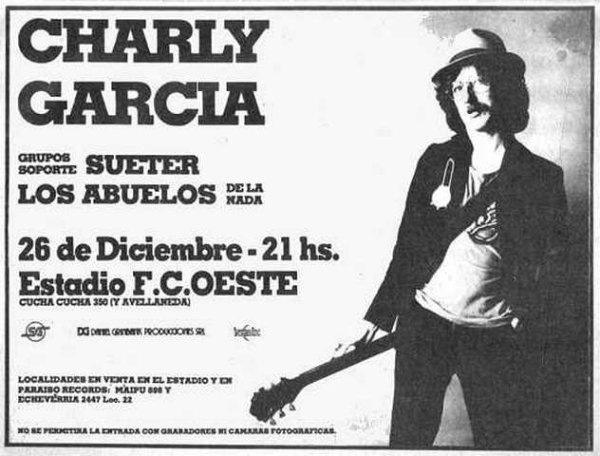 Hace 35 años, Charly García se convertía en el primer rockero argentino en tocar en un estadio