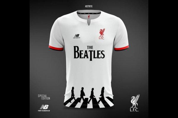 La marca que viste al Liverpool propuso una camiseta con The Beatles