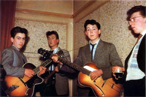 Hace 60 años, Lennon, McCartney y Harrison grababan juntos por primera vez
