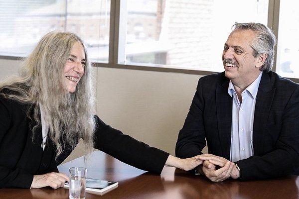 La cantante estadounidense Patti Smith se reunió con Alberto Fernández