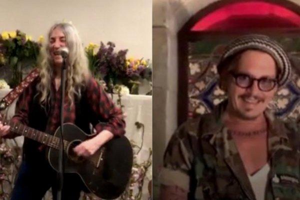 En el Día de la Tierra, Johnny Depp interpretó a Lennon y recibió una canción de regalo de Patti Smith