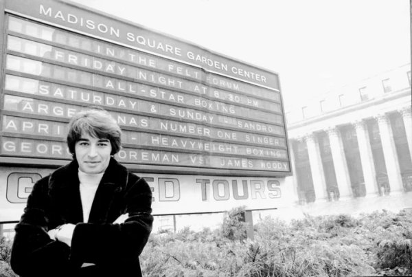 Hace 50 años, Sandro se convertía en el primer latinoamericano en cantar en el Madison Square Garden de Nueva York
