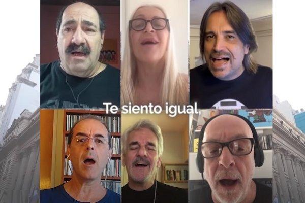 La Trova Rosarina cantó «Tema de Rosario» contra el coronavirus